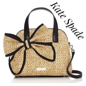 KATE SPADE Belle Place Straw Maise Tote Crossbody